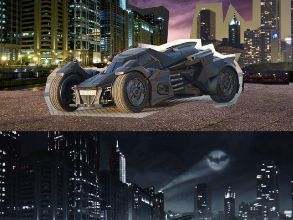 Foto artistik mobil Batman ini adalah karya seniman digital Rusia bernama Max Asabin. Foto: Instagram