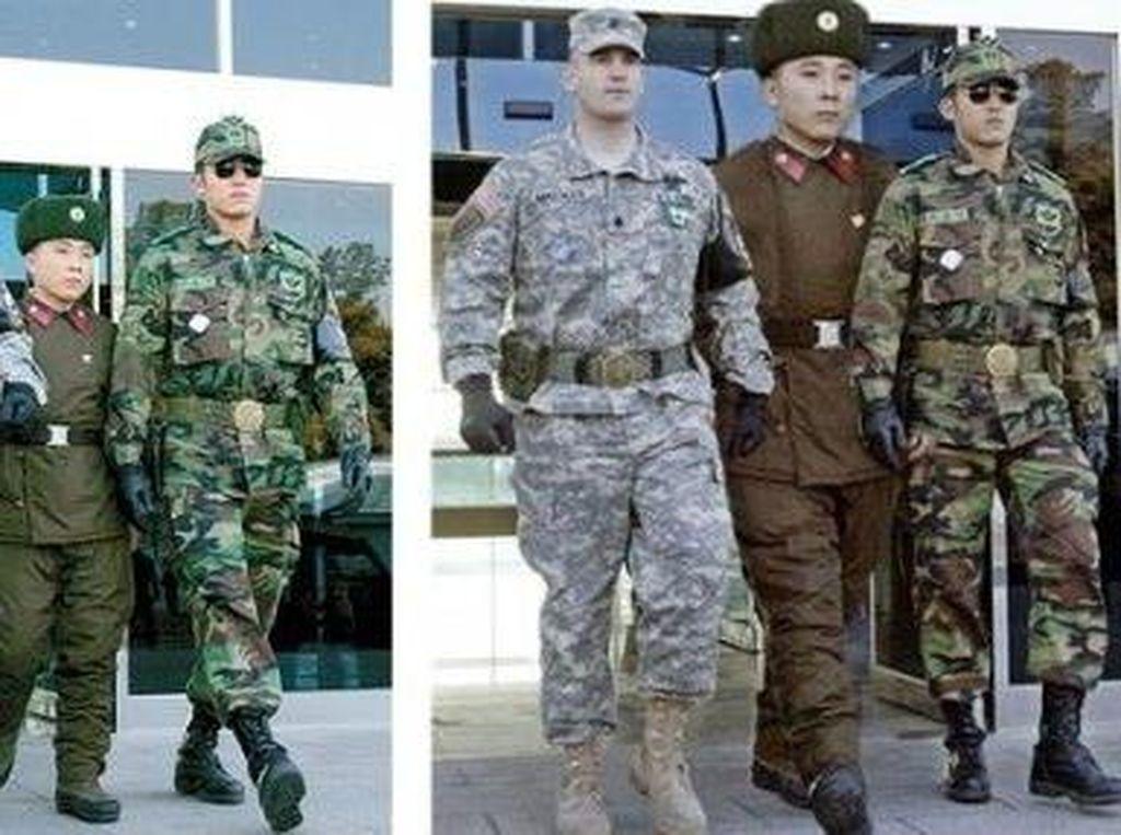 Tentara Korut dikatakan bertubuh pendek dibanding tentara Korsel, apalagi AS. Tapi di sini tampak diperbesar. Foto: Istimewa