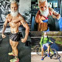 Rambut dan berewok boleh beruban, tapi otot tubuh masih tetap prima. (Foto: Instagram/street.gym]