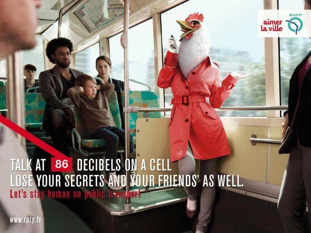 Heboh sendiri di dalam KRL pastinya mengganggu ketenangan penumpang lain. Foto: ratp.fr