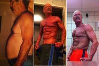 Robert mulai berolahraga intens pada usia 56 ketika ia kelebihan berat badan dan tidak mampu berjalan tanpa tongkat. Kini, dia punya otot yang luar biasa meski kulitnya tak bisa menyembunyikan penuaan. (Foto: Instagram/rockhardpapaw)