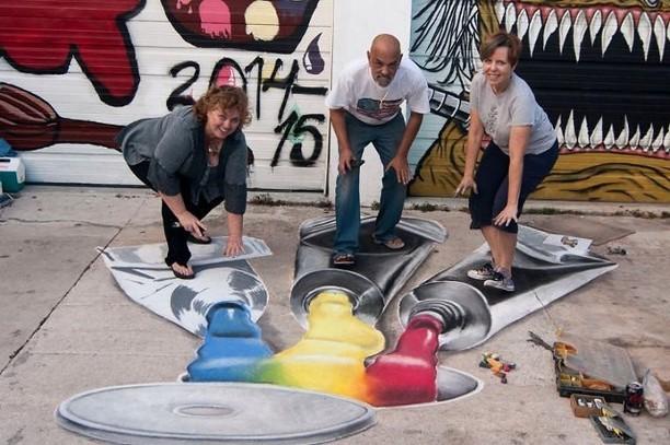 Deretan Lukisan 3D Keren Karya Seniman Jalanan