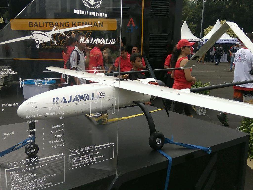 Kalau ini Pesawat Tanpa Awak PT Rajawali (Foto: Mustaqim/detikcom)