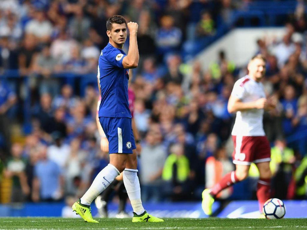 Chelsea baru dapat membalas gol lewat Alvaro Morata. Gol diceploskan rekrutan baru Chelsea itu pada menit ke-69. (Dan Mullan/Getty Images)