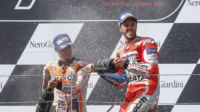 Duel Ketat Dovizioso-Marquez Nyaris Buat Pedrosa Juara