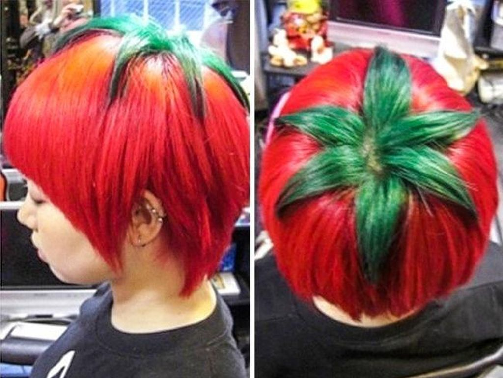 Gaya rambut tomat. Foto: Internet