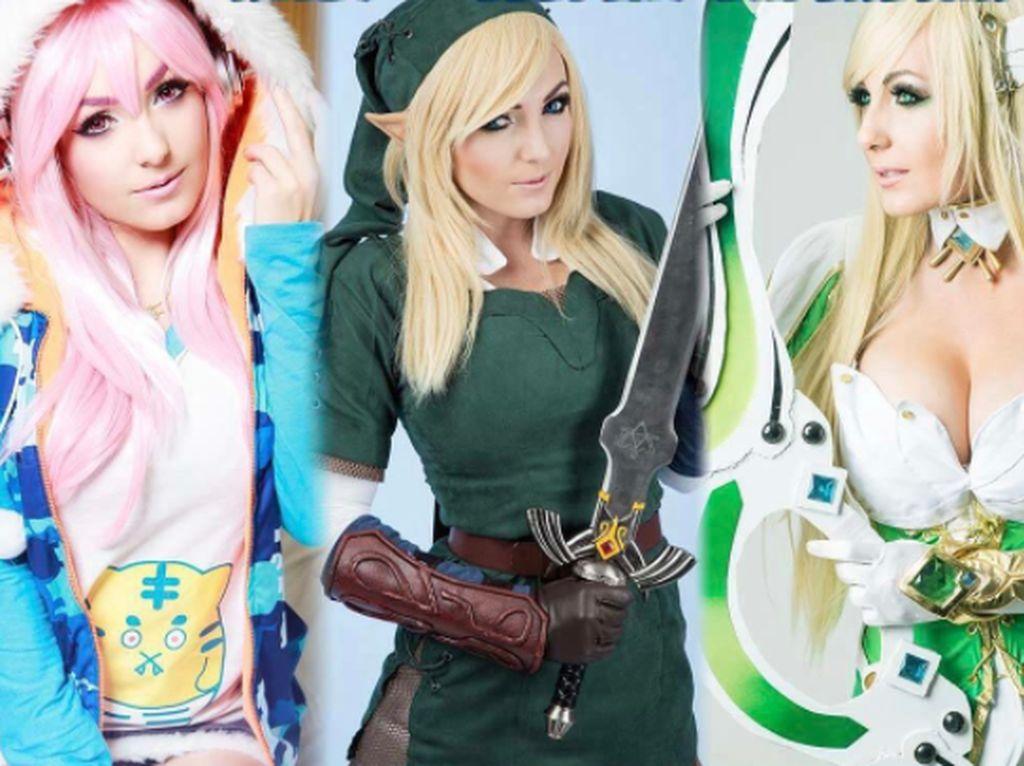 Hampir semua peran anime sudah ia coba. Foto: Instagram Jessica Nigri