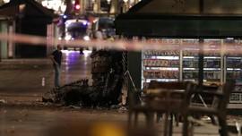 Malam Hening Usai Tragedi di Barcelona