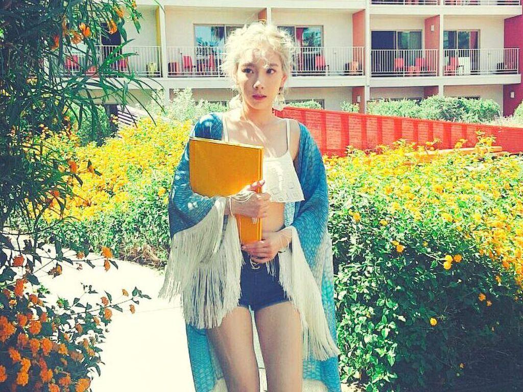 Foto: Seksinya Si Mungil Taeyeon SNSD Bercelana Pendek