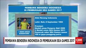 Pembawa Bendera Indonesia pada Pembukaan SEA Games 2017