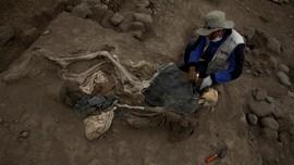FOTO: Jejak Ratusan Tahun Pekerja China di Piramida Peru