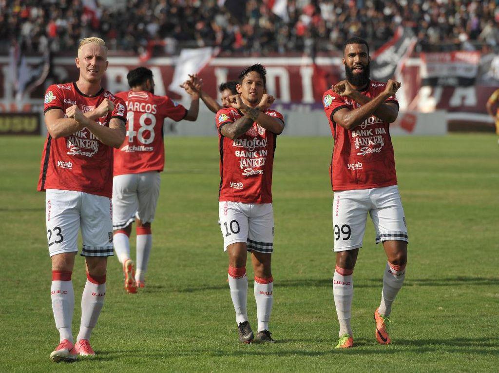 Bali United menjadi klub dengan jumlah penonton terbanyak keempat yang mencapai258.433 orang penonton. Foto: Nyoman Budhiana/Antara Foto