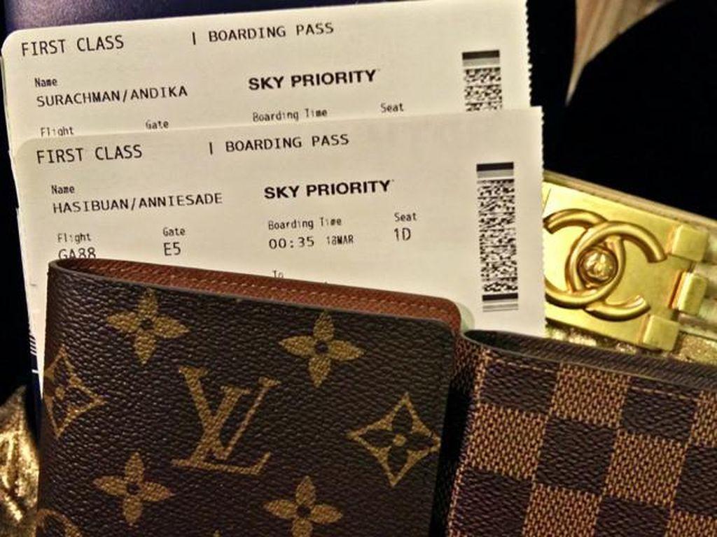 Koleksi barang branded milik bos First Travel. Foto: Dok. Instagram @anniesahasibuan