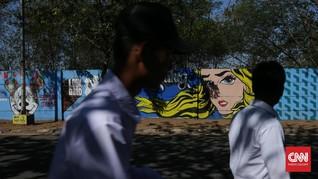 FOTO: Sepotong Sore dan 'Musim Panas' di Marunda