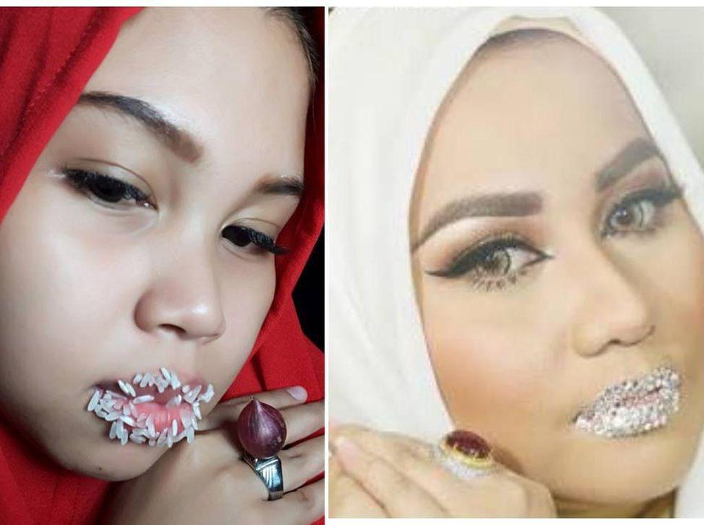 Foto: Aksi Kocak Netizen Tiru Bibir Kristal Anniesa Hasibuan
