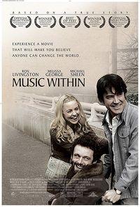 Sebagai penghormatan kepada salah satu dari banyak pahlawan dalam gerakan perjuangan hak-hak penyandang cacat, Music Within (2007) menceritakan kisah pembicara publik berbakat Richard Pimentel, yang kembali ke rumah dari Perang Vietnam dengan gangguan pendengaran mematikan yang membawanya pada kehidupan baru. (Foto: IMDB)
