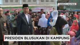 Presiden Jokowi Blusukan Usai Tunaikan Salat Iduladha