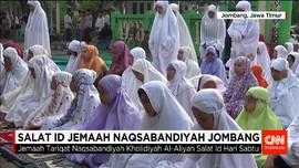 Jemaah Naqsabandiyah Jombang Salat Id Pagi Tadi