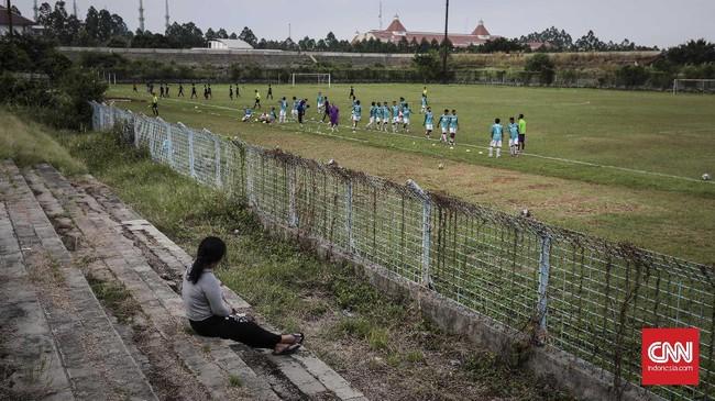 <p>Sejak 2012 ketika Persita promosi ke ISL (Indonesia Super League), Stadion Benteng sudah tidak dipakai lagi untuk pertandingan resmi. Sekarang ini stadion hanya dipakai untuk latihan tim Persita. (CNN Indonesia/Adhi Wicaksono)</p>