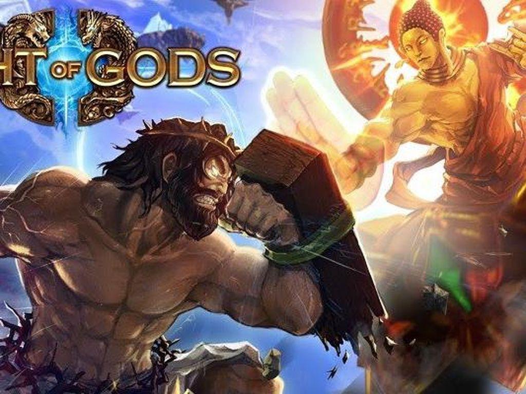 Sesuai judulnya, game ini mengusung genre fighting. Game ini digarap oleh developer game indie dan hadir untuk platform Steam. Foto: Screenshot Fight of Gods