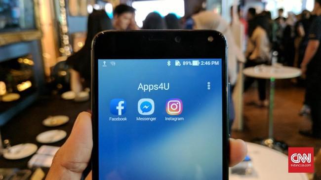 Ponsel ini dibekali layar 5,5 inci dengan prosesor Snapdragon 430, RAM 3 GB, pemindai sidik jari, dan sistem operasi Android 7.0 dengan ZenUI 4.0.(CNN Indonesia/ Bintoro Agung)