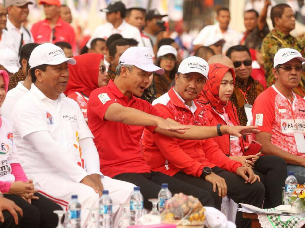 Bertempat di Stadion Moh Subroto, Sabtu (9/9/2017), acara ini digelar. Selain dihadiri ribuan masyarakat ada juga beberapa pejabat daerah salah satunya gubernur Jawa Tengah, Ganjar Pranowo. (Foto: dok. Kemenpora)