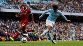 Dua gol tambahan Manchester City dicetak Leroy Sane pada menit ke-77 dan 90+1. Sane sendiri baru masuk pada menit ke-57 menggantikan posisi Gabriel Jesus. (Action Images via Reuters/Lee Smith)