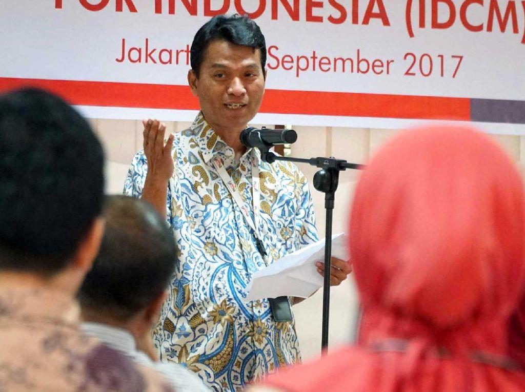 Wakil Ketua Himpunan Alumni AOTS Indonesia (HAAI), Saharto Sahardjo, memberikan sambutan pada acara Pemberangkatan Peserta Pelatihan Program on Corporate Management for Indonesia (IDCM) ke Jepang di Kantor Yayasan Dharma Bhakti Astra (YDBA), Sunter, Jakarta Utara, Senin (11/9). (dok. YDBA)