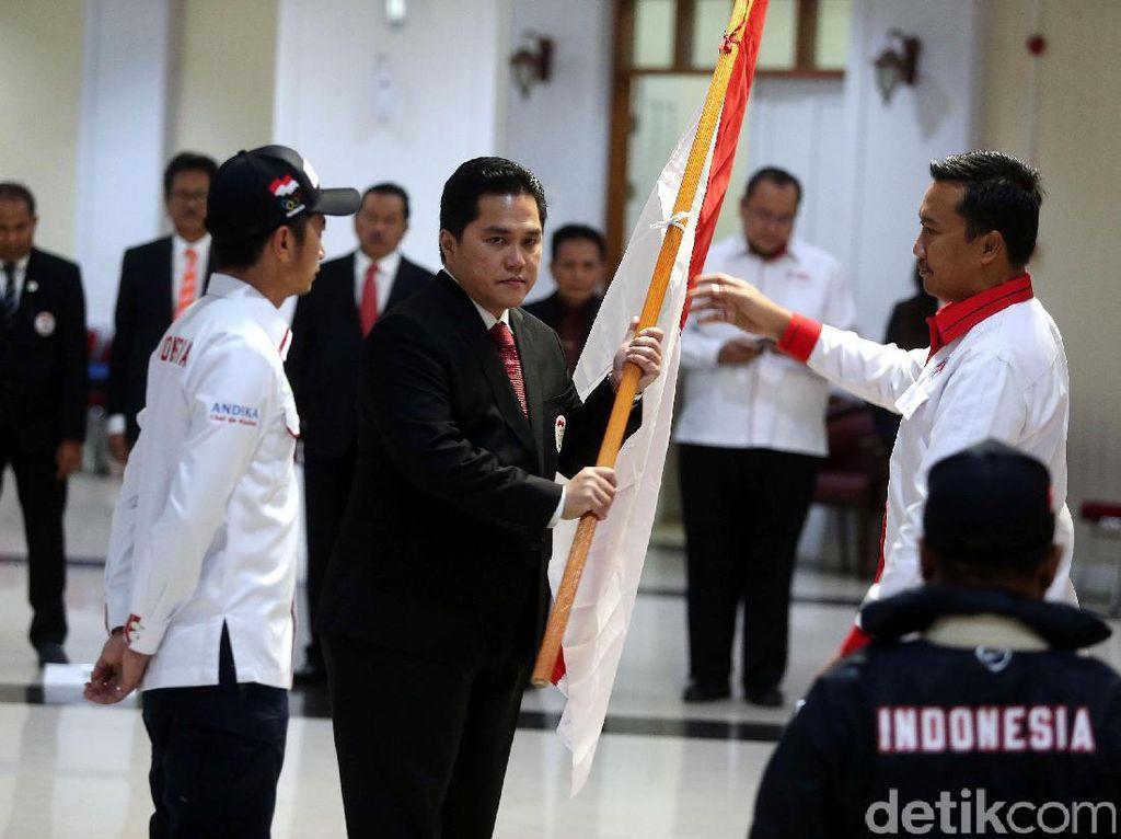 Selain Menpora hadir Ketua Umum KOI Erick Thohir dan jajaran, serta perwakilan dari Satlak Prima.