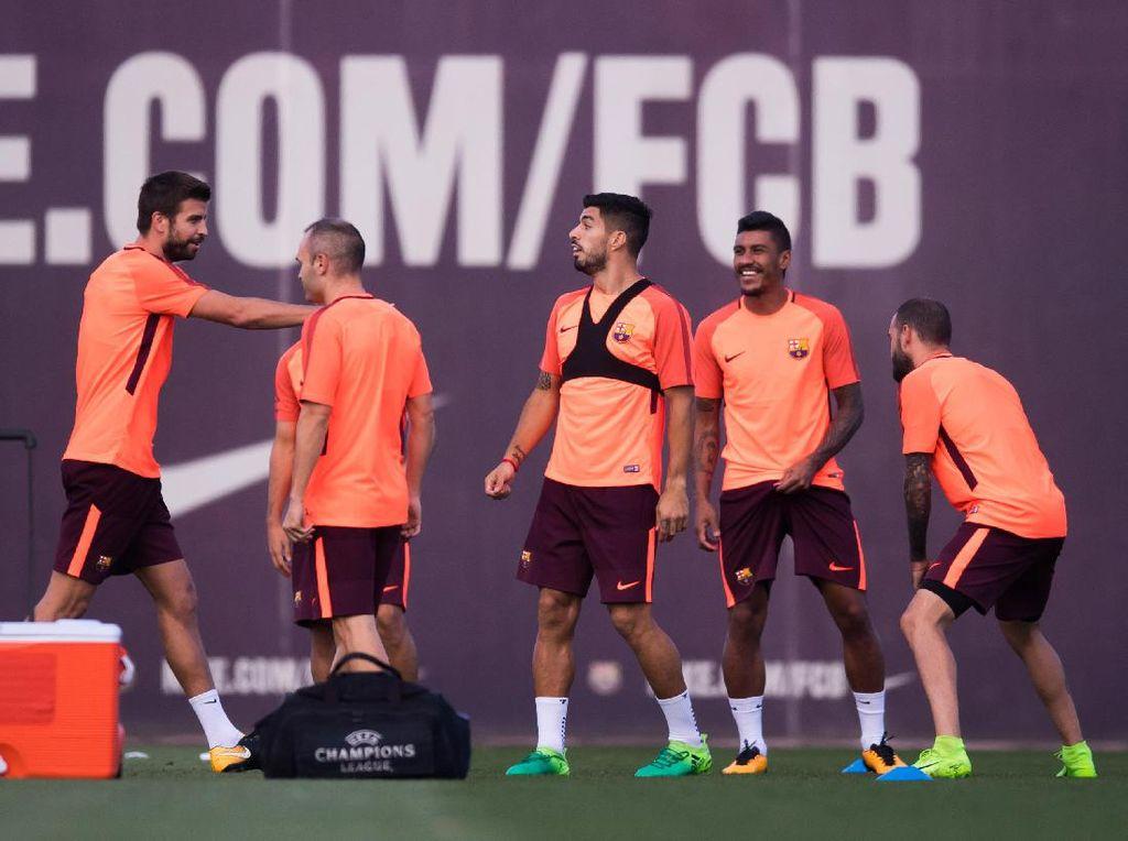 Barca membuktikan bahwa mereka tetap tangguh setelah ditinggal Neymar. Start gemilang di La Liga adalah tolok ukurnya. Foto: Alex Caparros/Getty Images