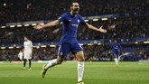 Bek kanan anyar Chelsea, Davide Zappacosta, menjadi salah satu pencetak gol ke gawang Qarabag FK yang merupakan klub asal Azerbaijan. (Action Images via Reuters/Tony O'Brien)