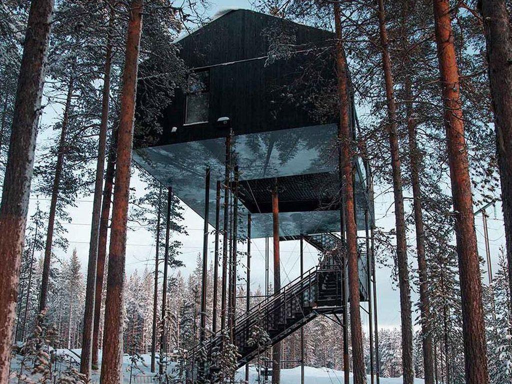 Rumah pohon tersebut sebenarnya adalah hotel bernama The 7th Room. Istimewa/Johan Jansson/Boredpanda.