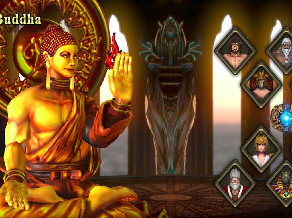 Berikut adalah deretan karakter dalam game kontroversial ini. Foto: Screenshot Fight of Gods