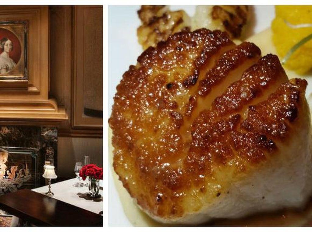 Victoria & Alberts merupakan restoran berkelas atas dengan sentuhan klasik dari Disney. Mendapatkan penghargaan AAA 5 diamond di area resor Orlando Disney telah digambarkan sebagai pengalaman sekali seumur hidup. Restoran bergaya klasik dan elegan ini cocok jadi tempat paling romantis bersama si dia. Foto: Istimewa