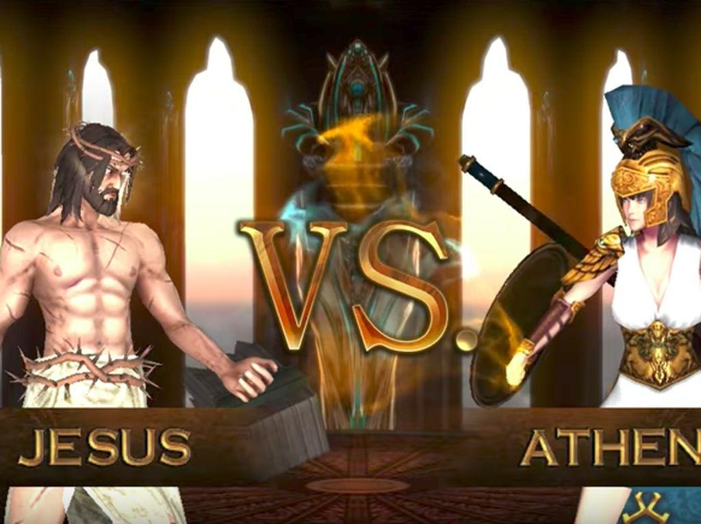 Mengingat karakter yang ada dalam game ini sangatlah sensitif, maka gelombang protes pun berdatangan di berbagai negara. Foto: Screenshot Fight of Gods