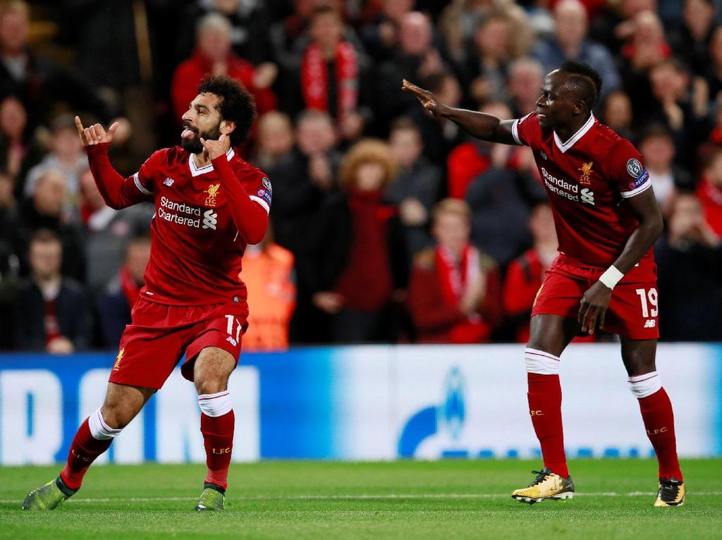 Memasuki menit ke-37, Liverpool berbalik memimpin lewat gol Salah. (Foto: Jason Cairnduff/Action Images via Reuters)