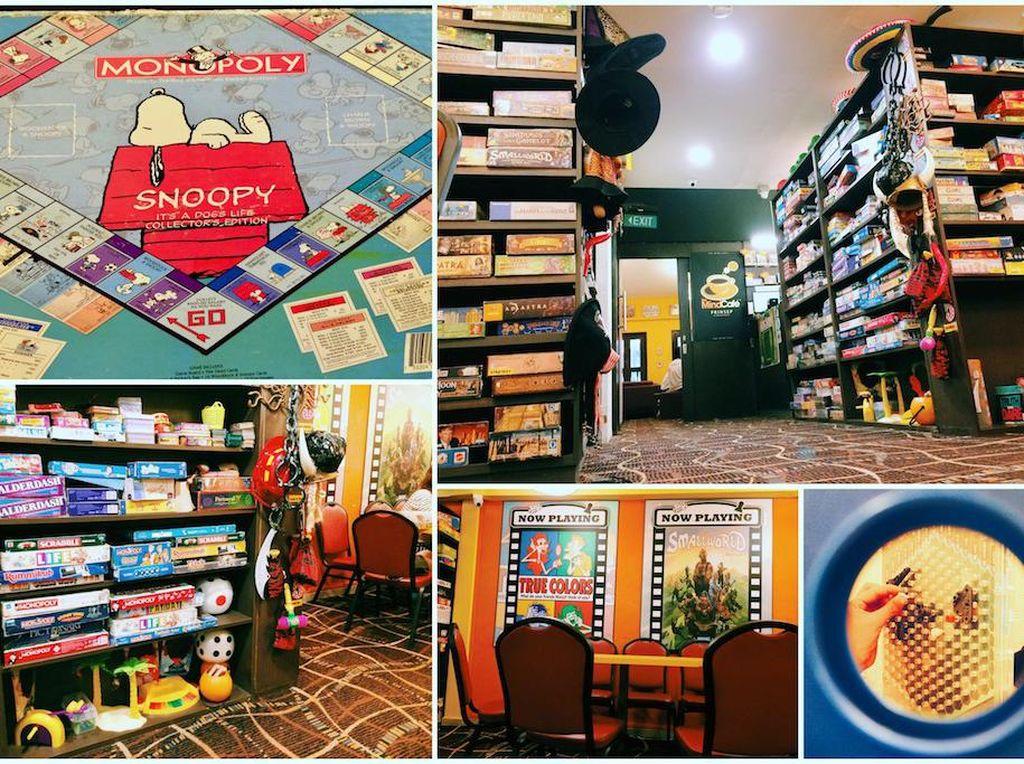 The Mind Cafe jadi surganya pencinta permainan papan seperti monopoli dan ludo. Ada lebih dari 500 permainan di kafe Prinsep Street ini. Dijamin bikin si kecil betah! Foto: Singapore Motherhood