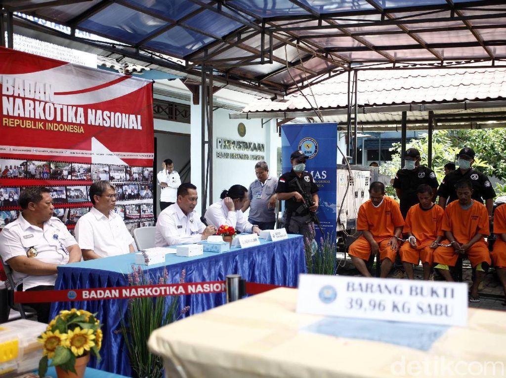 Budi Waseso (Buwas) memberikan keterangan pers terkait pengungkapan peredaran sabu jaringan Aceh-Malaysia.