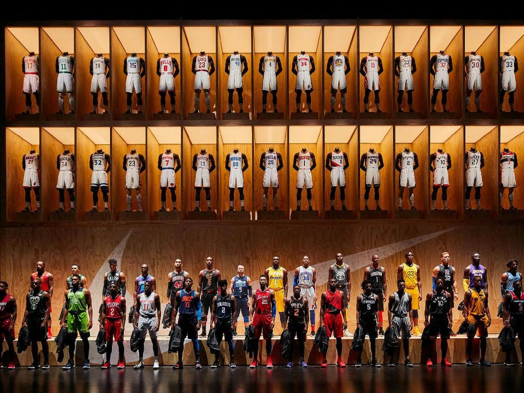 NBA Statement Edition Uniforms, demikian Nike memberi nama pada barisan jersey yang mereka siapkan untuk musim 2017/2018. (nike.com)