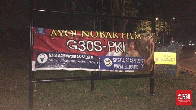 Masjid di Cileungsi Nobar Film G30S/PKI untuk Anak-anak