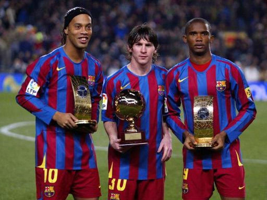 Lionel Messi adalah pemenang penghargaan Golden Boy 2005. Pemain asal Argentina kelahiran 1987 itu masih bermain untuk Barcelona. (Foto: CESAR RANGEL/AFP PHOTO)