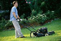 Memotong rumput tergolong pekerjaan rumah tangga yang menguras tenaga. Jika dilakukan manual, memotong rumput bisa memangkas 281 kalori per 30 menit. Namun jika dilakukan dengan mesin, kalori yang terbakar hanya 215 kalori. Foto: Thinkstock