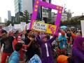 Awasi Praperadilan Setya Novanto, 'Emak-emak' Aksi di CFD
