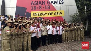 Peserta Kirab Pemuda Dukung Sosialisasi Asian Games 2018