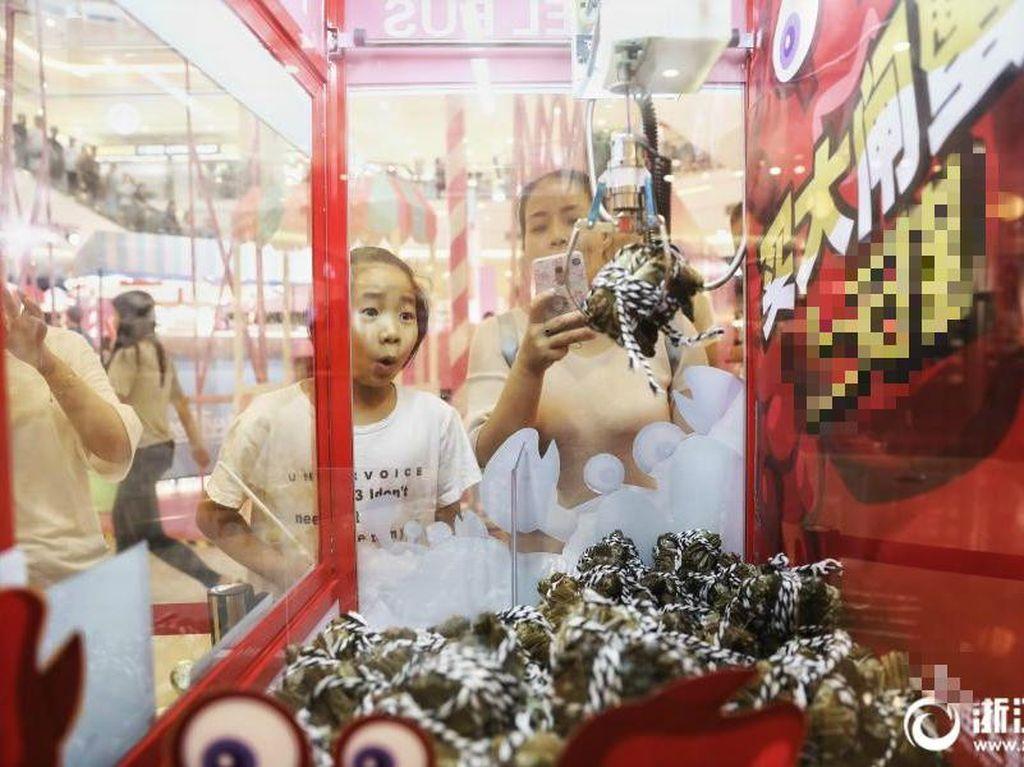 Mesin disediakan oleh e-commerce besar China, Alibaba, bertepatan dengan waktu musim kepiting di China. Wow! Foto: Istimewa