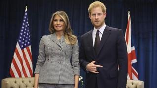 Makna Simbol Tangan Pangeran Harry untuk Melania Trump