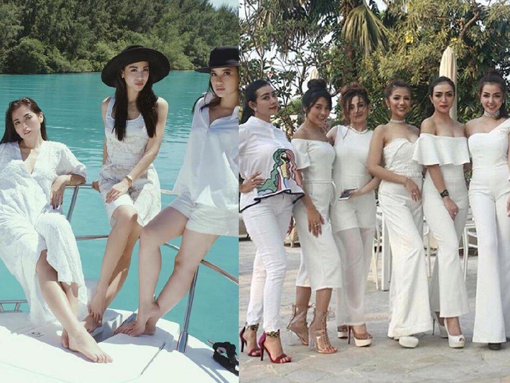 Mereka juga tampil elegan dengan dress putih. (Dok. Instagram)