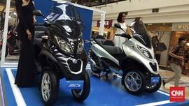 Skuter Premium Roda Tiga Piaggio Mengaspal, Dijual Rp280 Juta