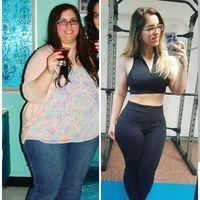 Perbedaan Dena di tahun 2013 dan Dena di tahun 2017. Menurutnya kunci diet sukses adalah tidak merasa menyesal dan menyerah begitu saja bila sesekali tidak sengaja makan berlebih. (Foto: instagram/defywithdena)