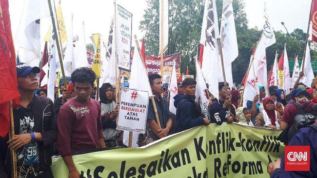 Aksi Hari Tani, Massa Kritik Reforma Agraria Ala Jokowi